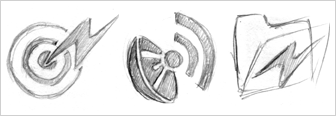 Live Bookmark icon sketches by Stephen Horlander