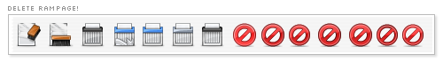 Thunderbird delete icon variations